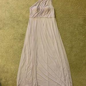 David's Bridal One Shoulder Bridesmaid Dress